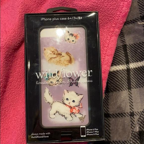 Wildflower Kitten phone case